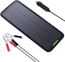 GIARIDE Solar Car Battery Charger Solar Trickle Charger 7.5W 18V 12V Sunpower Solar Panel Maintainer Backup for Car Boat RV Tractor Motorcycle and Auto Batteries