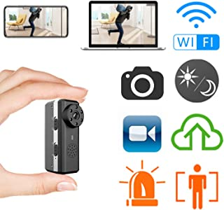Smallest WiFi Hidden Spy Camera,ZTour Indoor HD IP Wireless Smart Home Security Nanny Camera with Motion Detection,Night Vision,2-Way Audio,Cloud,Live Monitoring for iOS/Andorid Mobile Phone,Window PC
