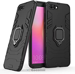 Cocomii Black Panther Armor Huawei Honor View 10/Honor V10 Case New [Heavy Duty] Tactical Metal Ring Grip Kickstand [Works with Magnetic Car Mount] Cover for Huawei Honor View 10 (B.Jet Black)