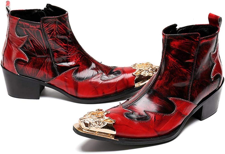 Mr.Zhang's Art Home Men's schuhe Nachtklubbühne-Friseur zeigte die roten Schuhe der hohen Mnner