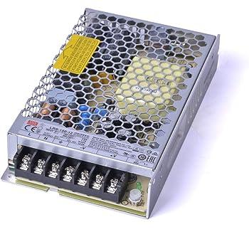 Dimensioni: 191 x 63 x 37.5 mm Alimentatore Mean Well 150W 24V LPV-150-24 a voltaggio costante ideale per Strisce LED Mean Well