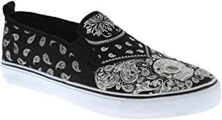 Hot Topic Paisley Skull Slip-Ons