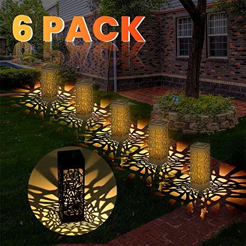 ERWEY Solarleuchte Garten Outdoor Solar Gartenleuchte Solarleuchten Garten Wasserdicht IP65, Solarlampen für Garten, Solarlampen für Außen LED Solar, Solarleuchte Outdoor IP65 Wasserdicht (6 Pack)