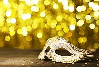 EdCott 7x5ft Maskerade Back Drop Mystic Karneval Maske Hintergrund für Fotografie Goldene Punkte Prom Halloween Party Kostüm Ball Foto Hintergrund Studio Requisiten