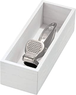 iDesign ECO Kitchen Bin, White Wash