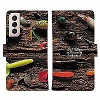 AnglersLife 手帳型 Galaxy ギャラクシー スマホケース マグネット付 カード収納 お気に入りのルアーたち Galaxy A31