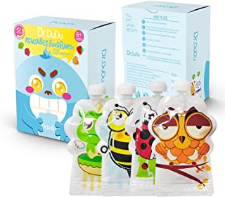 Dr.DUDU Reusable Food Pouch BPA-Free Double Zipper (8 Pack)