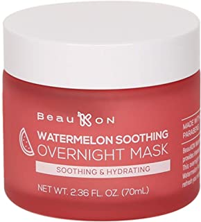 Best BeauKON Watermelon Soothing Overnight Mask, Hydrating and Moisturizing Sleeping Mask, All Skin Types (2.36 Oz) Review