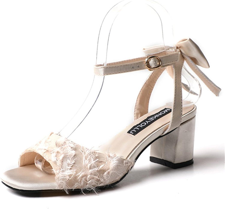 SUNNY Store Womens Heels Ankle Strap Peep Toe Low Heels Evening Dress Wedding shoes