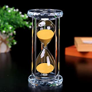 ASLD 30 Min Hourglass Sand Timer, Gold Crystal Sand Timer Egg Hourglass for Kitchen Child Brushing Teeth School Teaching