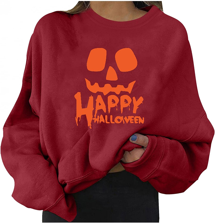 FABIURT Sweatshirt for Women Trendy,Women's Tunic Tops Classic Fit Long Sleeve Crewneck Sweatshirt Comfy Casual Plus Size Blouse Tshirts Fashion Tees Shirts Womens Sweatshirt Graphic