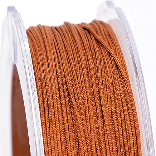SHHMA Hilo De Nylon Cordón De Nylon Cuerda Trenzada Adecuado para Tejer Accesorios, con Un Diámetro De 0,5 Mm,Dark Gold