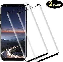 TOCYORIC Protector de Pantalla para Samsung S8, [2 Pack] [ 3D Cobertura Completa] Anti-Burbujas, Alta Definicion, Anti Rasguños [9H Dureza] Protector Cristal Templado para Galaxy S8