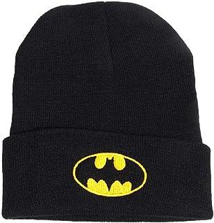 Bonnet tricoté Style Européen Mode Garçons Et Filles Mignons Chapeaux Tricotés Brodés Chapeau Tricoté Batman en Plein Air ...