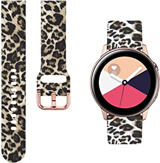 GinCoband Colorful Bands Replacement for Samsung Galaxy Watch 42mm,Galaxy Watch Active 40mm,Gear S2 Classic,Gear Sport,Rose Gold Watch Buckle for Women