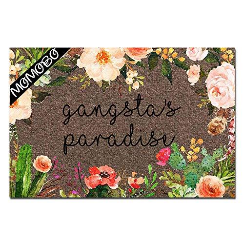 MOMOBO Funny Doormat Custom Indoor Doormat -Gangsta's Paradise Funny Front Mats Home and Office Decorative Entry Rug Garden/Kitchen/Bedroom Mat Non-Slip Rubber 23.6 x15.7 Inch