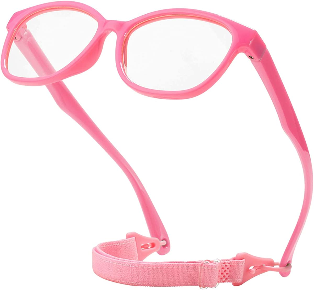 SeeBand Kids Blocking Blue Light Glasses with Glasses Rope for Age 3-10