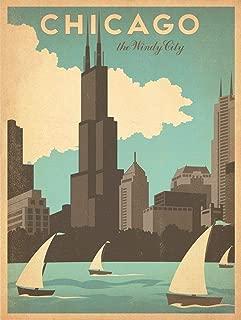 154403 Vintage Travel Chicago Art Deco Art Decor Wall 36x24 Poster Print