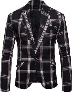 Men's Casual Blazers Sport Coats for Jeans Slim Fit Floral Plaid Print Suit Jackets