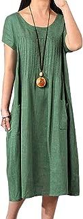 Best green cotton summer dresses Reviews