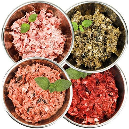 Barf-Snack Sparpaket für empfindliche Tiere 28kg x 1000g mit Rind, Fisch, Ente & Blättermagen, Frostfutter für Hunde & Katzen, rohes Hundefutter