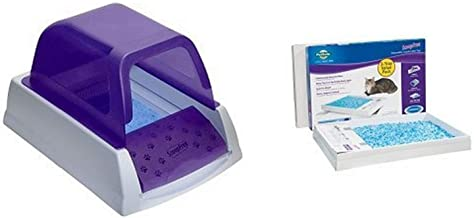 ScoopFree Ultra Self Cleaning Litter Box - Purple and ScoopFree Litter Tray Refills with Premium Blue Crystals - 3-Pack Bu...