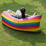 ONETWO Air Sofa Inflatable Lounger,Outdoor Indoor Against Tear Waterproof Inflatable Couch For Beach Park Pool