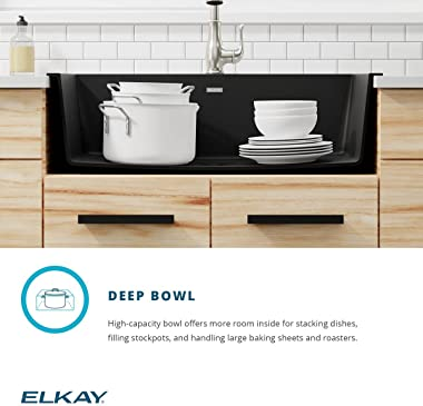 Elkay Quartz Classic ELGR13322WH0 White Single Bowl Top Mount Sink