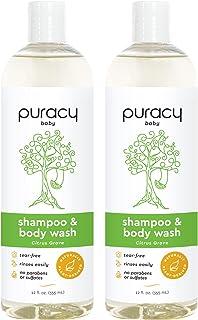 Sponsored Ad - Puracy Baby Shampoo & Natural Baby Body Wash, Plant-Derived Shampoo & Baby Wash, Gentle Bath Soap for Sensi...