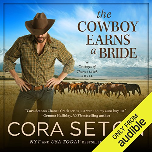The Cowboy Earns a Bride audiobook cover art