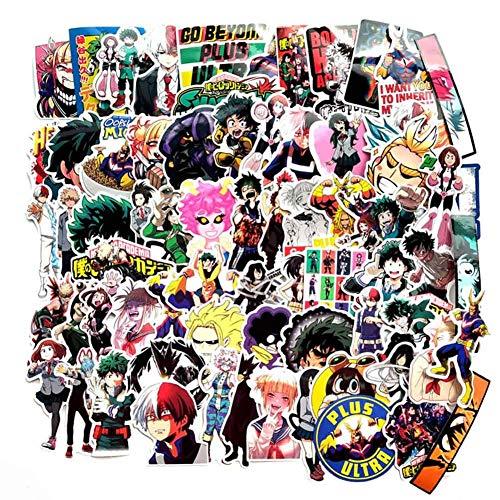 Vingerspeelgoed Anime Mijn Hero Academia Auto Stickers, Leuke Cartoon Stickers DIY Vinyl Sticker Bumper Sticker voor Snowboard Laptop Bagage Auto Motorfiets Koelkast en Meer Style 07-140 Pcs