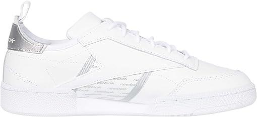 White/Silver Metallic/None