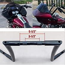 BBUT 12'' 14'' 16'' Rise 1 1/4'' APE Hanger Handlebar Handle Bar For 1996-2018 Harley Dyna Softail Sportster XL 1983-2014 Touring Road King Street Glide Electra Glide FLHR FLHX FLHT FHTR (14'' Black)