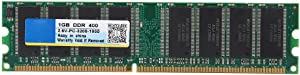 1G DDR 400MHz PC-3200 184 Pin 2.6V Desktop Computer RAM Memory Board Module Bank for AMD,Stable Performance