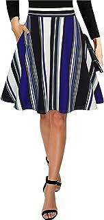 Black Maxi Skirts for Women Vintage Summer High Waisted A-line Long Flowy Skirt