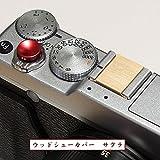 エフフォト F-Foto ウッド シュー カバー 木製 (無垢) 各社カメラ対応 ストロボ、フラッシュのホット シューに取付 シンプルタイプ サクラ (樺桜) WCS-SA