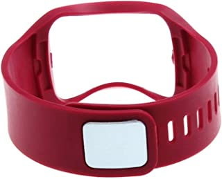 BESTeck Replacement Wristband Bracelet/Wireless Smartwatch Accessory Band Strap with Secure Buckle Compatible for Samsung Galaxy Gear S R750 Smart Watch (Red)