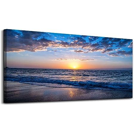 Details about  /Late Afternoon Beach Sunset Modern Decor Canvas Wall Art HD Print