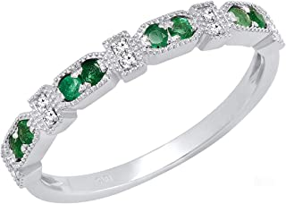 Best emerald diamond band Reviews