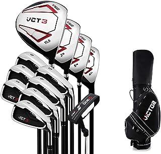 LITINGT Golfset voor heren, compleet golfset, standaard kogeltas, golfclub met rechtshandige clubs voor beginners. Volledi...