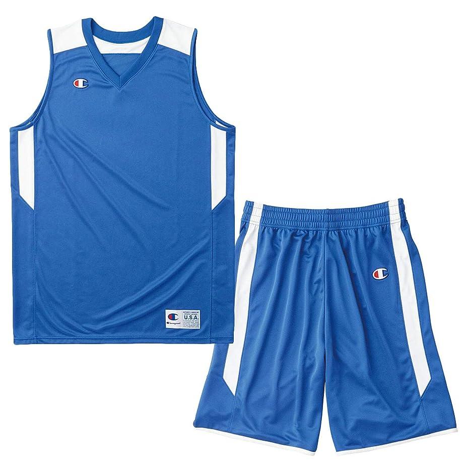 成熟したジャズブリークチャンピオン(champion) ゲームシャツ&パンツ上下セット(アメリカンブルー/アメリカンブルー) CBR2206-AB-CBR2266-AB