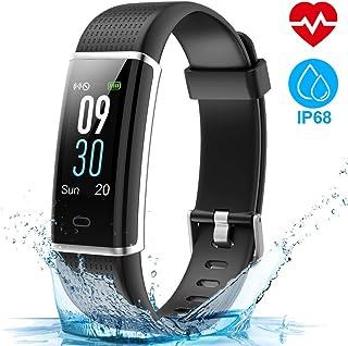 comprar comparacion HOMSCAM Pulsera Actividad, Pulsera Inteligente Pantalla Color Reloj Impermeable IP68 con Monitor de Ritmo Cardíaco, Captur...