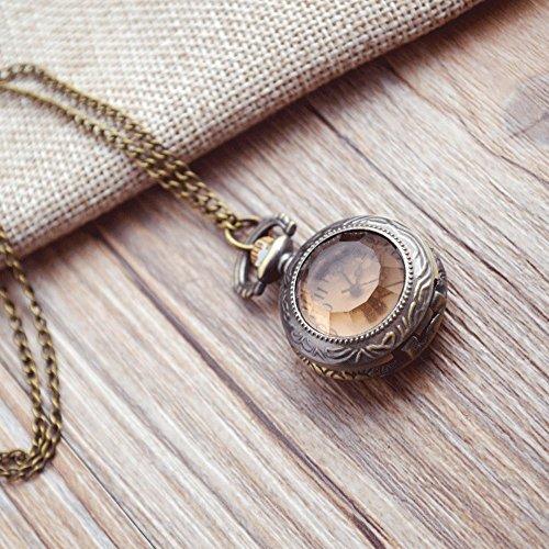 QB-Pocket watches Retro moda tendencia espejo de té reloj de bolsillo espejo...