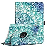 Fintie Rotating Case for iPad Mini 4-360 Degree Rotating Stand Case with Smart Cover Auto Sleep/Wake Feature for iPad Mini 4 (2015 Release), Emerald Illusions