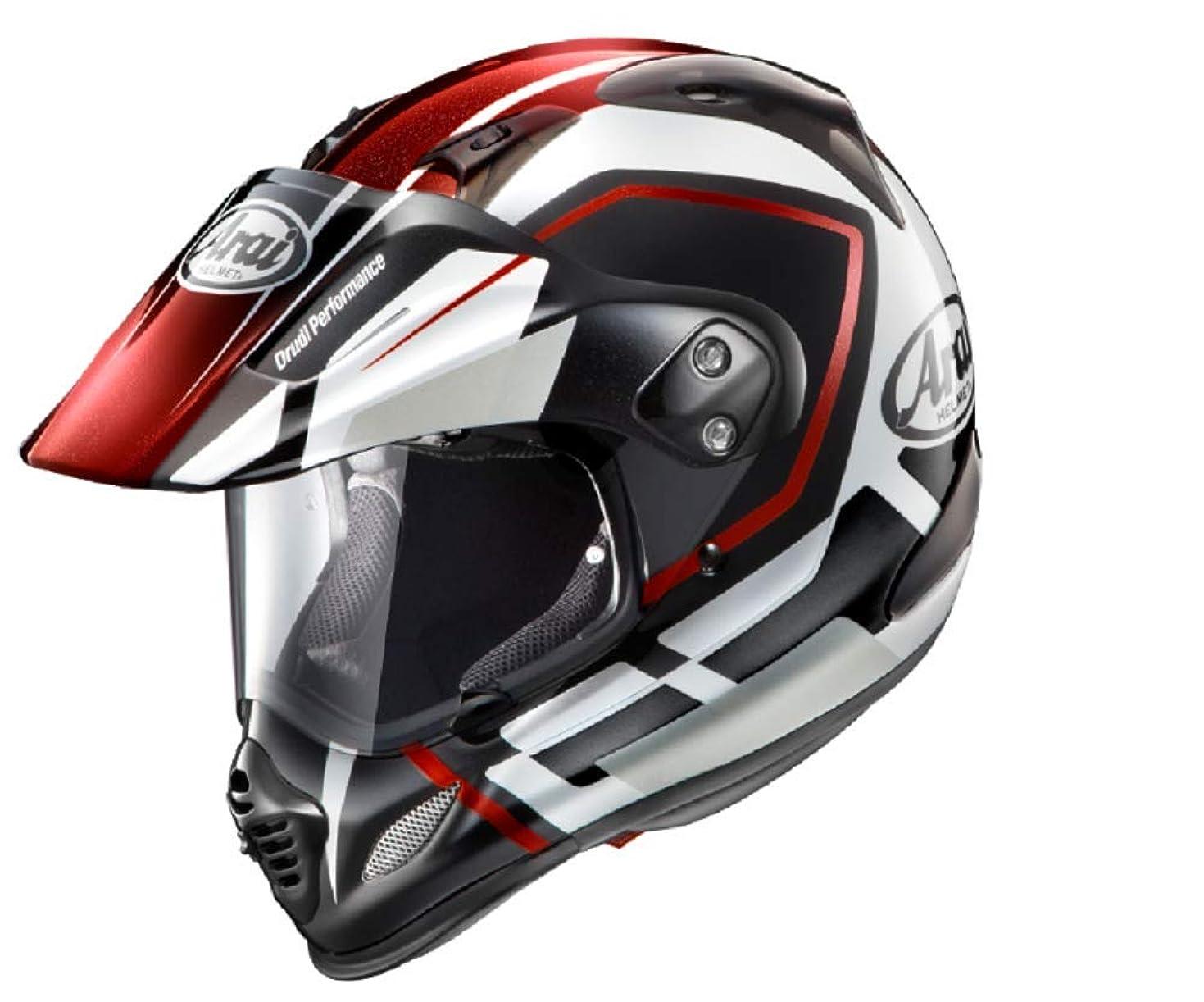 計算する居心地の良いフィードオンアライ(ARAI) バイクヘルメット オフロード TOUR CROSS3 DETOUR RED M 57-58cm