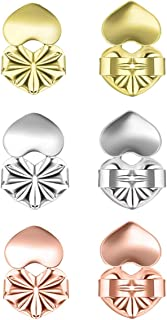Love Lifters Premium Quality Earring Lifters   GIFT BOX   Ear Support   3-Pairs of Pierced Ear Lobe Back Lift   Sterling S...