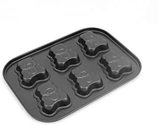 uxcell Metal Bear Shape Cookie Bread Cake Chocolate Mold Baking Pan 6-Cavity