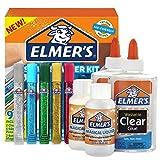 Elmers Slime Starter Kit, Clear School Glue, Glitter Glue Pens & Magical Liquid Activator Solution, 9 Count