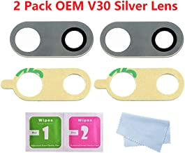 2 Pack Eoneding Back Rear Camera Lens Glass Replacement LG V30 V30 Plus H930 H931 H932 H933 H930DS LS998U VS996 US998 Original with Tool Kit and Adhesive Silver