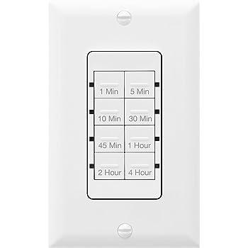4 h Topgreener compte à rebours minuteur Interrupteur dans Mur Ventilateur//contrôle de la lumière 1 m